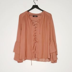 Do+Be Womens summer brown top
